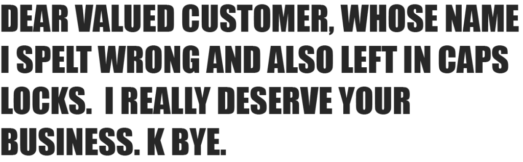 valuedcustomer
